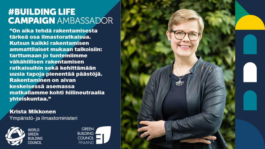 Ympäristö- ja ilmastoministeri Krista Mikkonen