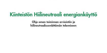 Kiinteistön Hiilineutraali energiankäyttö