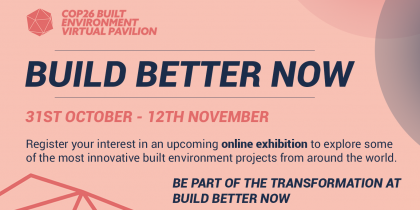 BuildingToCop26 – Tutustu virtuaaliseen näyttelyyn ja tapahtumiin